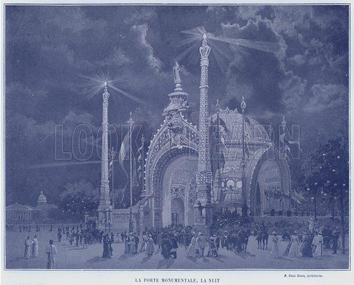 La Porte Monumentale, La Nuit. Illustration for Le Panorama, Exposition Universelle, Paris, 1900 (Librairie d'Art).