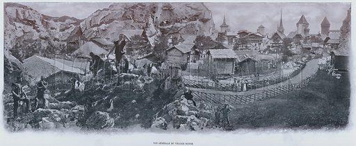 Vue Generale Du Village Suisse. Illustration for Le Panorama, Exposition Universelle, Paris, 1900 (Librairie d'Art).
