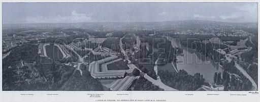 L'Annexe De Vincennes, Vue Generale Prise Du Ballon Captif De M Vernanchet. Illustration for Le Panorama, Exposition Universelle, Paris, 1900 (Librairie d'Art).