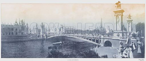 Le Pont Alexandre III. Illustration for Le Panorama, Exposition Universelle, Paris, 1900 (Librairie d'Art).