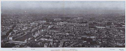 Paris Et L'Exposition, Vue Prise Du Haut De La Tour Eiffel. Illustration for Le Panorama, Exposition Universelle, Paris, 1900 (Librairie d'Art).