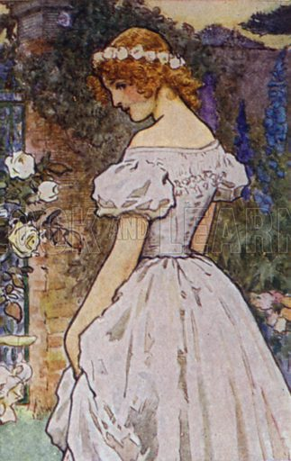 Maud. Illustration for Alfred Lord Tennyson from the Warwick Poets Series (Hodder and Stoughton, c 1910).