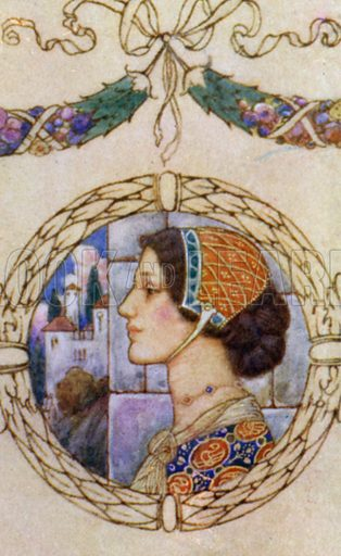 My Last Duchess. Illustration for Robert Browning from the Warwick Poets series (Hodder and Stoughton, c 1910).