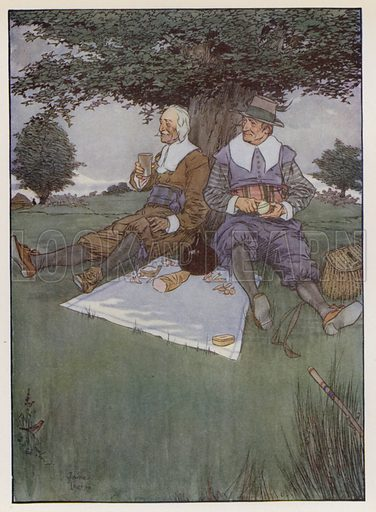 Illustration For The Compleat Angler By Izaak Walton Look And
