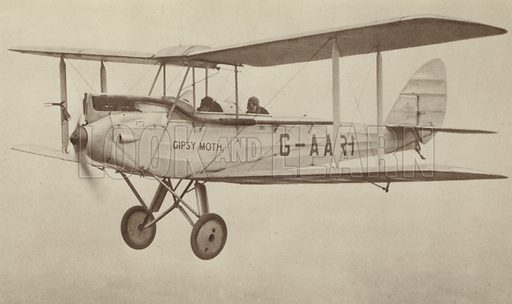 """The De Havilland """"Moth"""". Illustration for British Aircraft Illustrated by C A Sims (also the photographer) (A&C Black 1931)."""