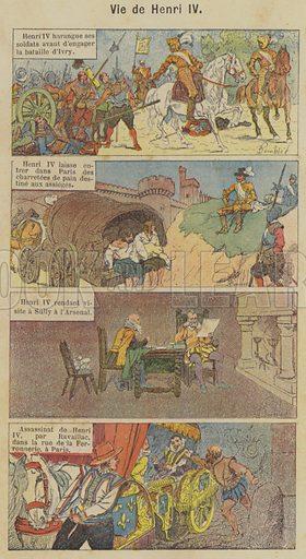 Vie de Henri IV. Illustration for Histoire de France by C Plomion (Garnier, 1896).