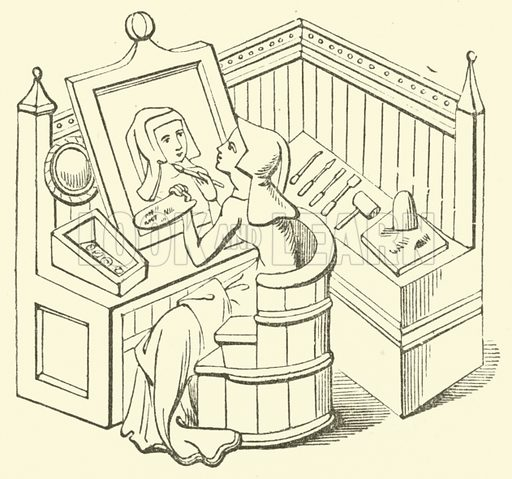 Panel-picture. A name given to a picture painted not upon canvas but a piece of wood or panel. Illustration for Adeline's Art Dictionary (Virtue, 1891).
