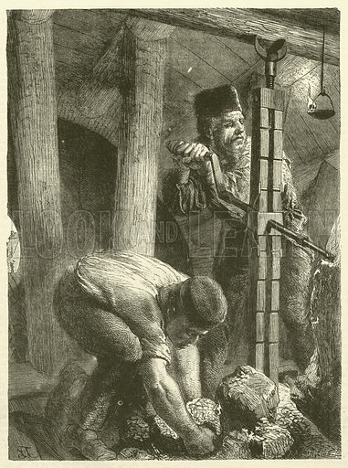 Tunnel Excavators. Illustration for Chatterbox, 1870.