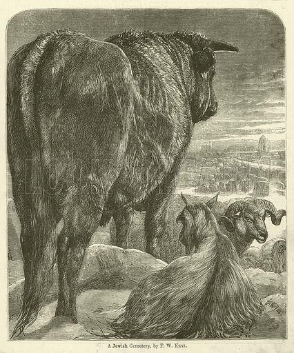A Jewish Cemetery. Illustration for Chatterbox, 1870.