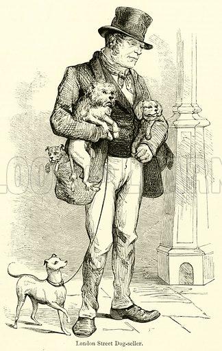 London Street Dog-seller. Illustration for Chatterbox, 1870.
