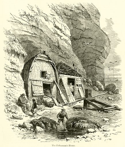 The Fisherman's Home. Illustration for Chatterbox, 1873.