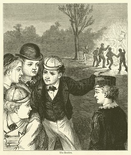 The Bonfire. Illustration for Chatterbox, 1873.