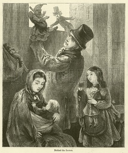 Behind the Scenes. Illustration for Chatterbox, 1877.