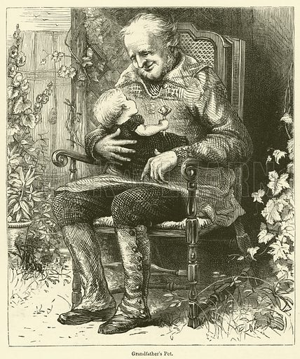 Grandfather's Pet. Illustration for Chatterbox, 1877.