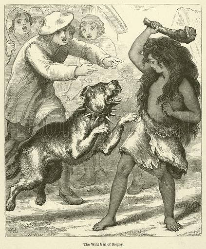 The Wild Girl of Soigny. Illustration for Chatterbox, 1888.