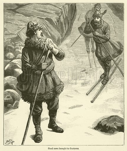 Good news brought to Gustavus. Illustration for Chatterbox, 1888.