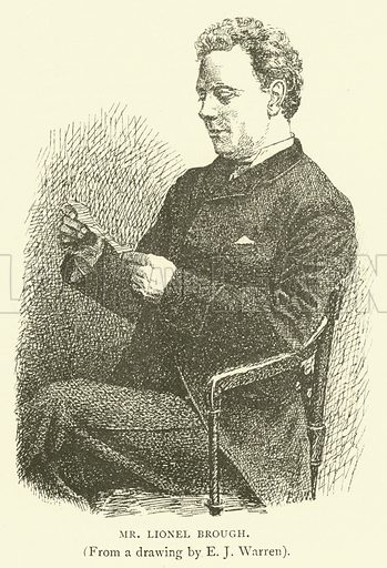 Mr Lionel Brough. Illustration for Illustrations, a Pictorial Review of Knowledge (W Kent, 1888).