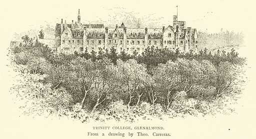 Trinity College, Glenalmond. Illustration for Illustrations, a Pictorial Review of Knowledge (W Kent, 1889).