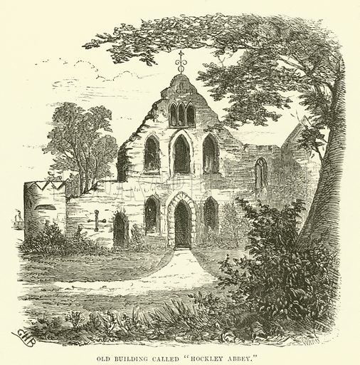 """Old building called """"Hockley Abbey"""". Illustration for Old and New Birmingham by Robert K Dent (Houghton and Hammond, c 1880)."""