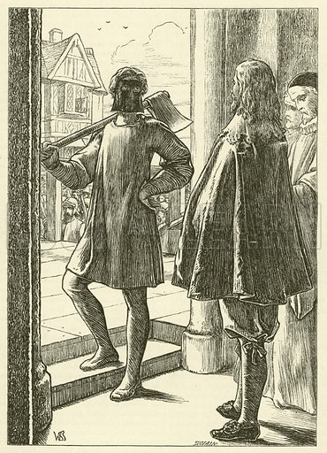 Execution of King Charles I. Illustration for Once A Week (Bradbury and Evans), December 1863-June 1864.