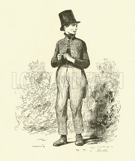 The Schoolboy. Illustration for Pictures of the French by Jules Janin et al (Thomas Tegg, 1841).