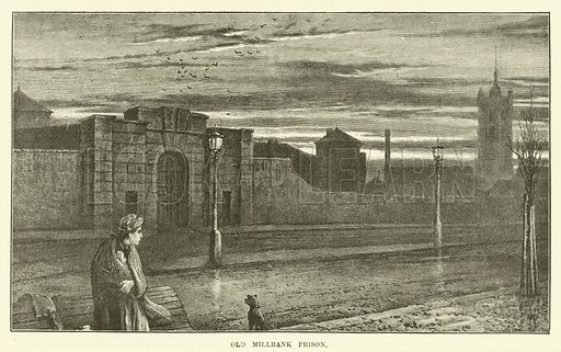 Old Millbank Prison. Illustration for Mysteries of Police and Crime by Arthur Griffiths (Cassell, c 1898).