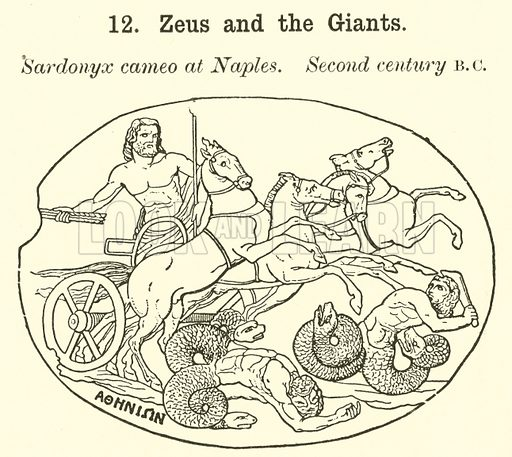 Zeus and the Giants. Illustration for Illustrations of School Classics arranged and described by GF Hill (Macmillan, 1903).