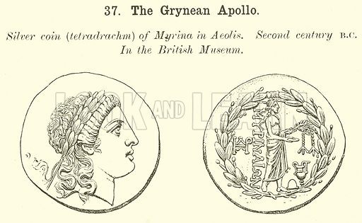 The Grynean Apollo. Illustration for Illustrations of School Classics arranged and described by GF Hill (Macmillan, 1903).