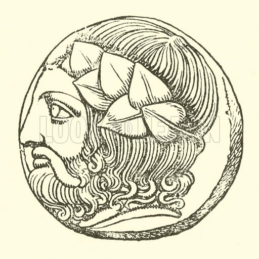 Dionysus. Illustration for Illustrations of School Classics arranged and described by GF Hill (Macmillan, 1903).