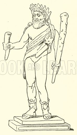 Faunus. Illustration for Illustrations of School Classics arranged and described by G F Hill (Macmillan, 1903).