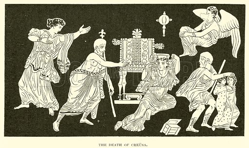 The Death of Creusa. Illustration for Illustrations of School Classics arranged and described by GF Hill (Macmillan, 1903).