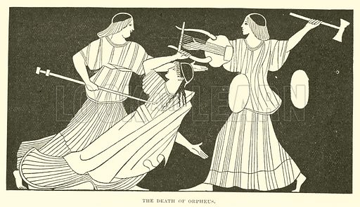 The Death of Orpheus. Illustration for Illustrations of School Classics arranged and described by GF Hill (Macmillan, 1903).