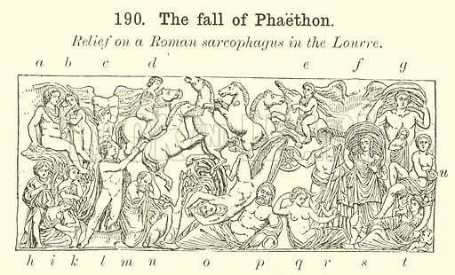 The fall of Phaethon. Illustration for Illustrations of School Classics arranged and described by GF Hill (Macmillan, 1903).