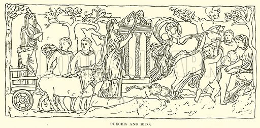 Cleobis and Bito. Illustration for Illustrations of School Classics arranged and described by GF Hill (Macmillan, 1903).