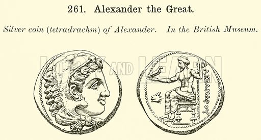 Alexander the Great. Illustration for Illustrations of School Classics arranged and described by GF Hill (Macmillan, 1903).