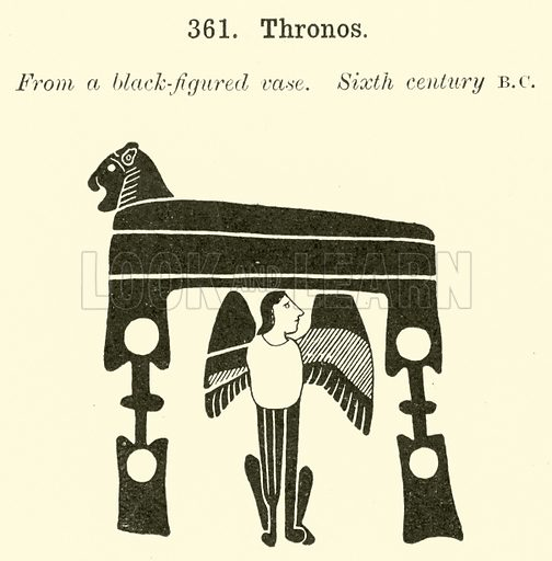 Thronos. Illustration for Illustrations of School Classics arranged and described by GF Hill (Macmillan, 1903).