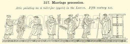 Marriage procession. Illustration for Illustrations of School Classics arranged and described by GF Hill (Macmillan, 1903).