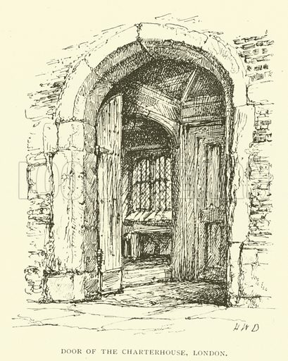 Door of the Charterhouse, London. Illustration for St Ignatius Loyola and the early Jesuits by Stewart Rose (Burns and Oates, 1891).