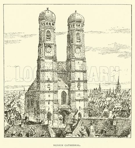 Munich Cathedral. Illustration for St Ignatius Loyola and the early Jesuits by Stewart Rose (Burns and Oates, 1891).