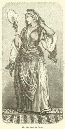 Dame du Caire. Illustration for Les Races Humaines by Louis Figuier (Hachette, 1872).