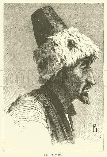 Nogai. Illustration for Les Races Humaines by Louis Figuier (Hachette, 1872).