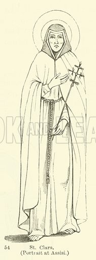 St Clara, portrait at Assisi. Illustration for Legends of the Monastic Orders as represented in the Fine Arts by Mrs Jameson (6th edn, Longmans, 1880).