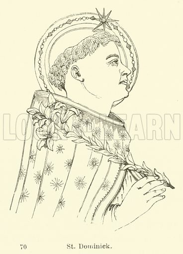 St Dominick. Illustration for Legends of the Monastic Orders as represented in the Fine Arts by Mrs Jameson (6th edn, Longmans, 1880).
