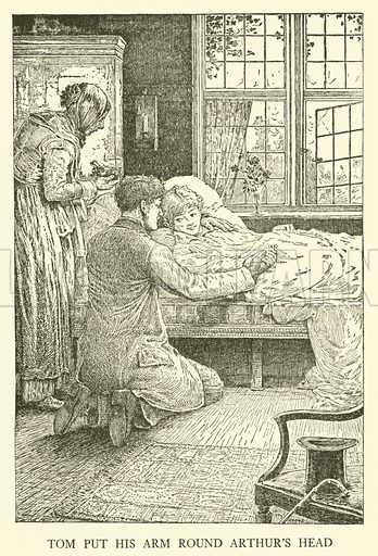Illustration for Tom Brown's School-Days by Thomas Hughes (Harper, 1911).