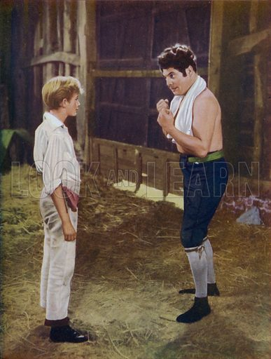 "Black Bart taught him all he knew. Illustration for Tom Brown's School Days by Thomas Hughes, based on the Renown Pictures' Flim ""Tom Brown's School Days"" which appeared in 1951 (Ward Lock, c 1951)."
