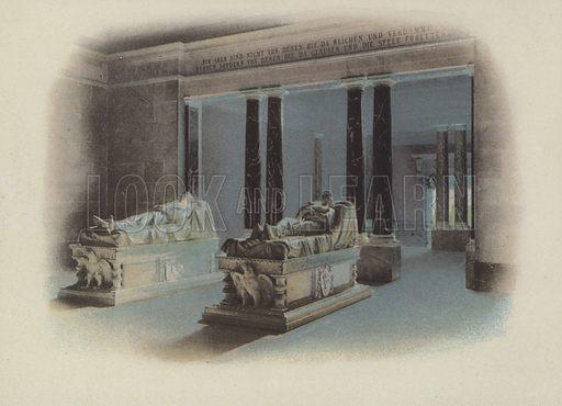 Mausoleum (Inneres), The Mausoleum (Interior). Illustration for Berlin in Farbigen Naturaufnahmen by Otto Troitzsch (Deutsche Verlags-Anstalt, 1895).