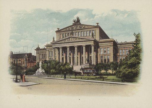 Konigliches Schauspielhaus, The Royal Theatre. Illustration for Berlin in Farbigen Naturaufnahmen by Otto Troitzsch (Deutsche Verlags-Anstalt, 1895).