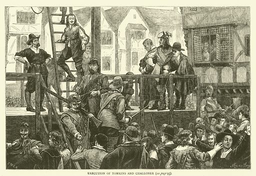 Execution of Tomkins and Challoner. Illustration for Old and New London with numerous engravings from the most authentic sources by Walter Thornbury (Cassell, c 1890).