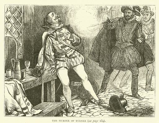 The murder of Turner. Illustration for Old and New London with numerous engravings from the most authentic sources by Walter Thornbury (Cassell, c 1890).