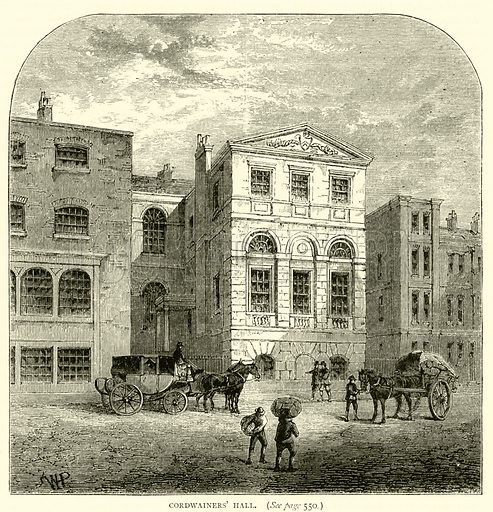 Cordwainers' Hall. Illustration for Old and New London with numerous engravings from the most authentic sources by Walter Thornbury (Cassell, c 1890).